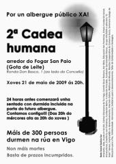 cartaz da 2 cadea humana polo albergue